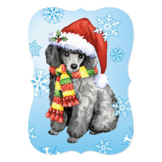 Happy Howlidays Miniature Poodle Card