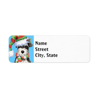 Happy Howlidays Miniature Schnauzer Label