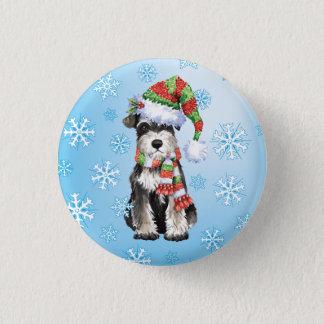 Happy Howlidays Miniature Schnauzer Pinback Button