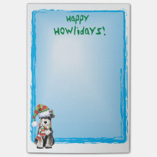 Happy Howlidays Miniature Schnauzer Post-it® Notes