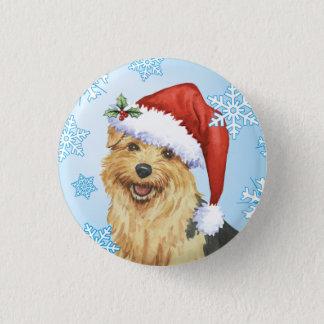 Happy Howlidays Norfolk Terrier Button