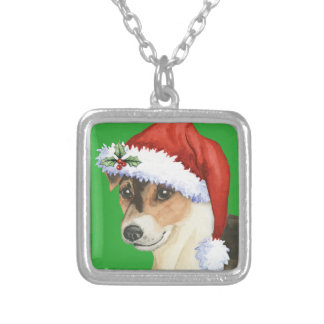 Happy Howlidays Norfolk Terrier Square Pendant Necklace