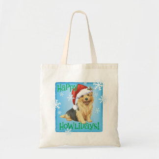 Happy Howlidays Norfolk Terrier Tote Bag