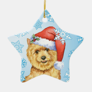 Happy Howlidays Norwich Terrier Ceramic Ornament