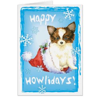 Happy Howlidays Papillon Card