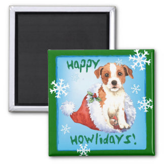 Happy Howlidays Parson Russell Terrier Magnet