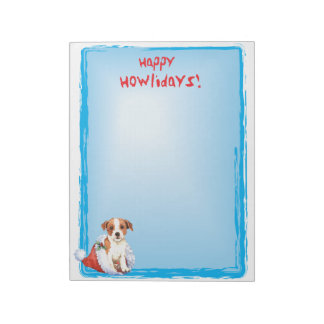 Happy Howlidays Parson Russell Terrier Notepad