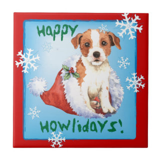Happy Howlidays Parson Russell Terrier Tile