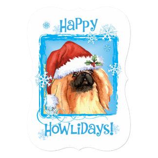 Happy Howlidays Pekingese Card