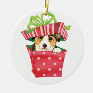Happy Howlidays Pembroke Welsh Corgi Ceramic Ornament
