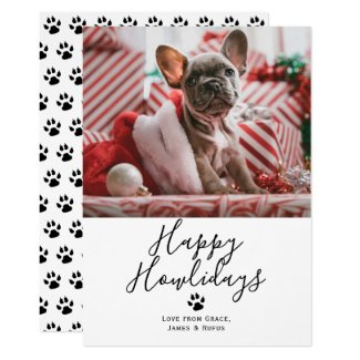 Happy Howlidays Pet Dog Christmas Card