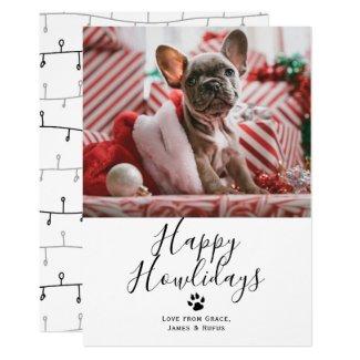Happy Howlidays Pet Dog Christmas Card