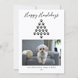 Happy Howlidays Pet Dog Christmas Holiday Photo