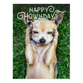 Happy Howlidays | Pet Holiday Photo postcard