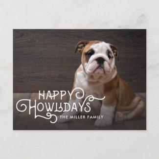 Happy Howlidays | Pet Holiday Photo postcard