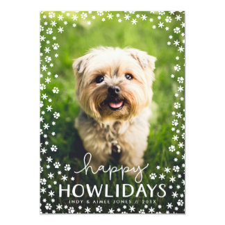 Happy Howlidays Pet Lover Holiday Photo Card