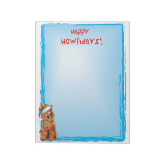 Happy Howlidays Poodle Note Pad