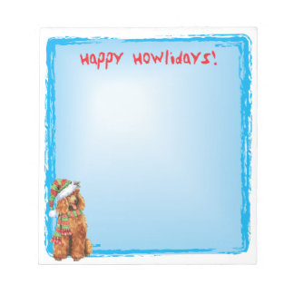 Happy Howlidays Poodle Notepad