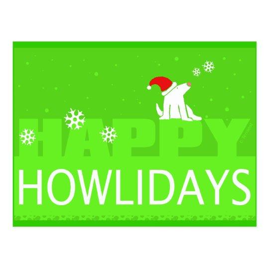 Happy Howlidays! Postcard