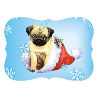 Happy Howlidays Pug Card