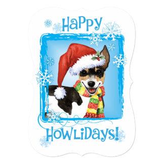 Happy Howlidays Rat Terrier Card