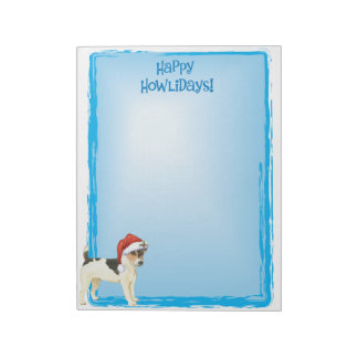 Happy Howlidays Russell Terrier Notepad