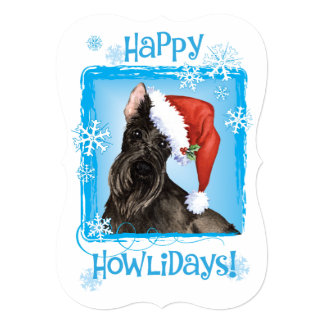 Happy Howlidays Scottish Terrier 5x7 Paper Invitation Card