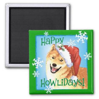 Happy Howlidays Shiba Inu Magnet