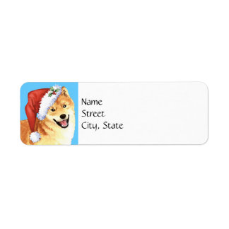 Happy Howlidays Shiba Inu Return Address Label
