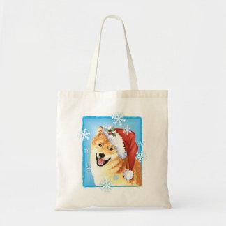 Happy Howlidays Shiba Inu Tote Bag