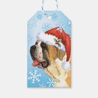 Happy Howlidays St. Bernard Gift Tags