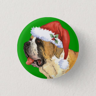 Happy Howlidays St. Bernard Pinback Button