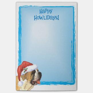 Happy Howlidays St. Bernard Post-it® Notes