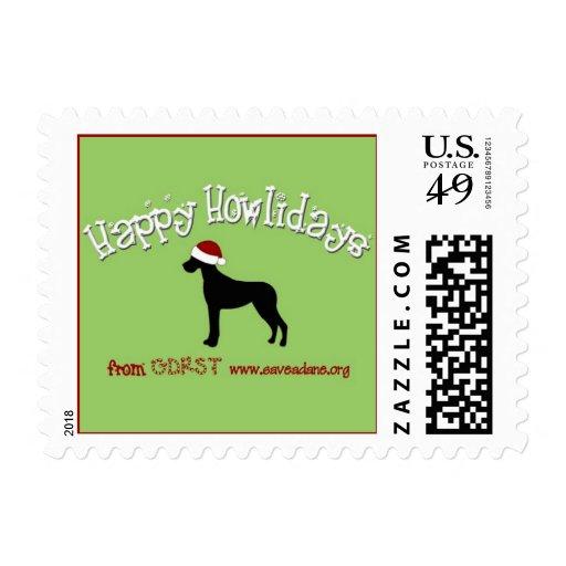 Happy Howlidays Stamp