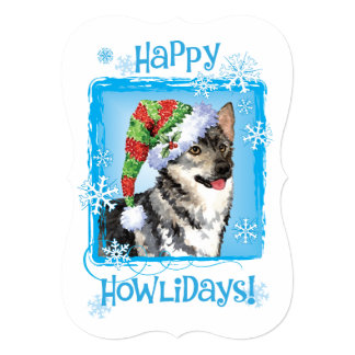 Happy Howlidays Swedish Vallhund Card