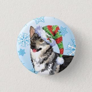 Happy Howlidays Swedish Vallhund Pinback Button