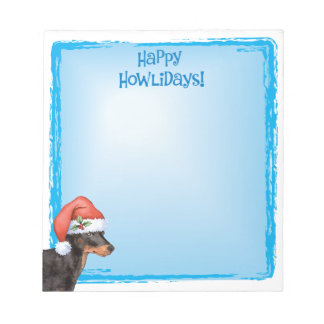 Happy Howlidays Toy Manchester Terrier Notepad