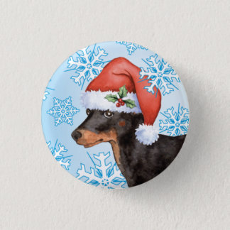 Happy Howlidays Toy Manchester Terrier Pinback Button