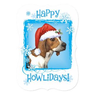Happy Howlidays Treeing Walker Coonhound Card