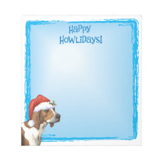 Happy Howlidays Treeing Walker Coonhound Notepad
