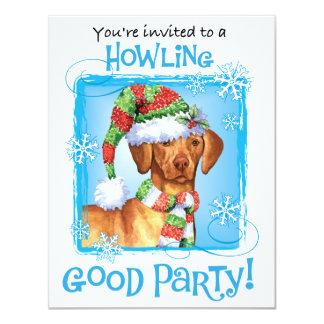 Happy Howlidays Vizsla Card
