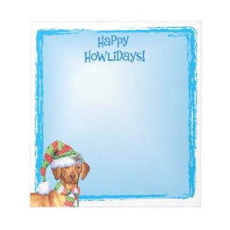 Happy Howlidays Vizsla Notepad