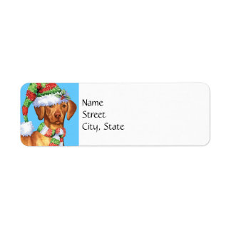 Happy Howlidays Vizsla Return Address Label