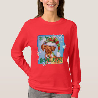 Happy Howlidays Vizsla T-Shirt