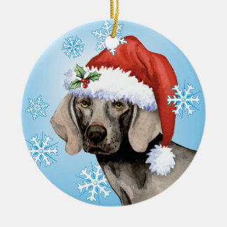 Happy Howlidays Weimaraner Ceramic Ornament