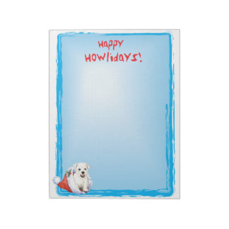 Happy Howlidays Westie Notepad