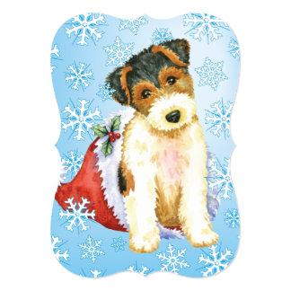 Happy Howlidays Wire Fox Terrier Card