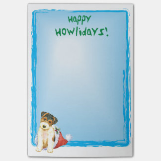 Happy Howlidays Wire Fox Terrier Post-it Notes