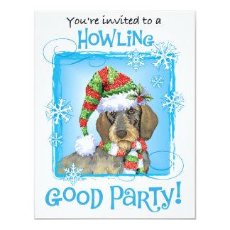 Happy Howlidays Wirehaired Dachshund Card