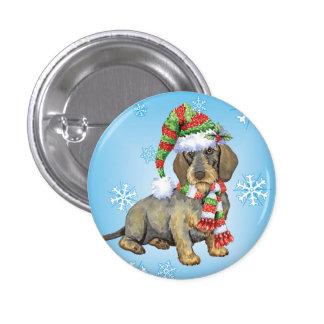Happy Howlidays Wirehaired Dachshund Pinback Button